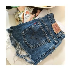 Levi's High Waisted Shorts.